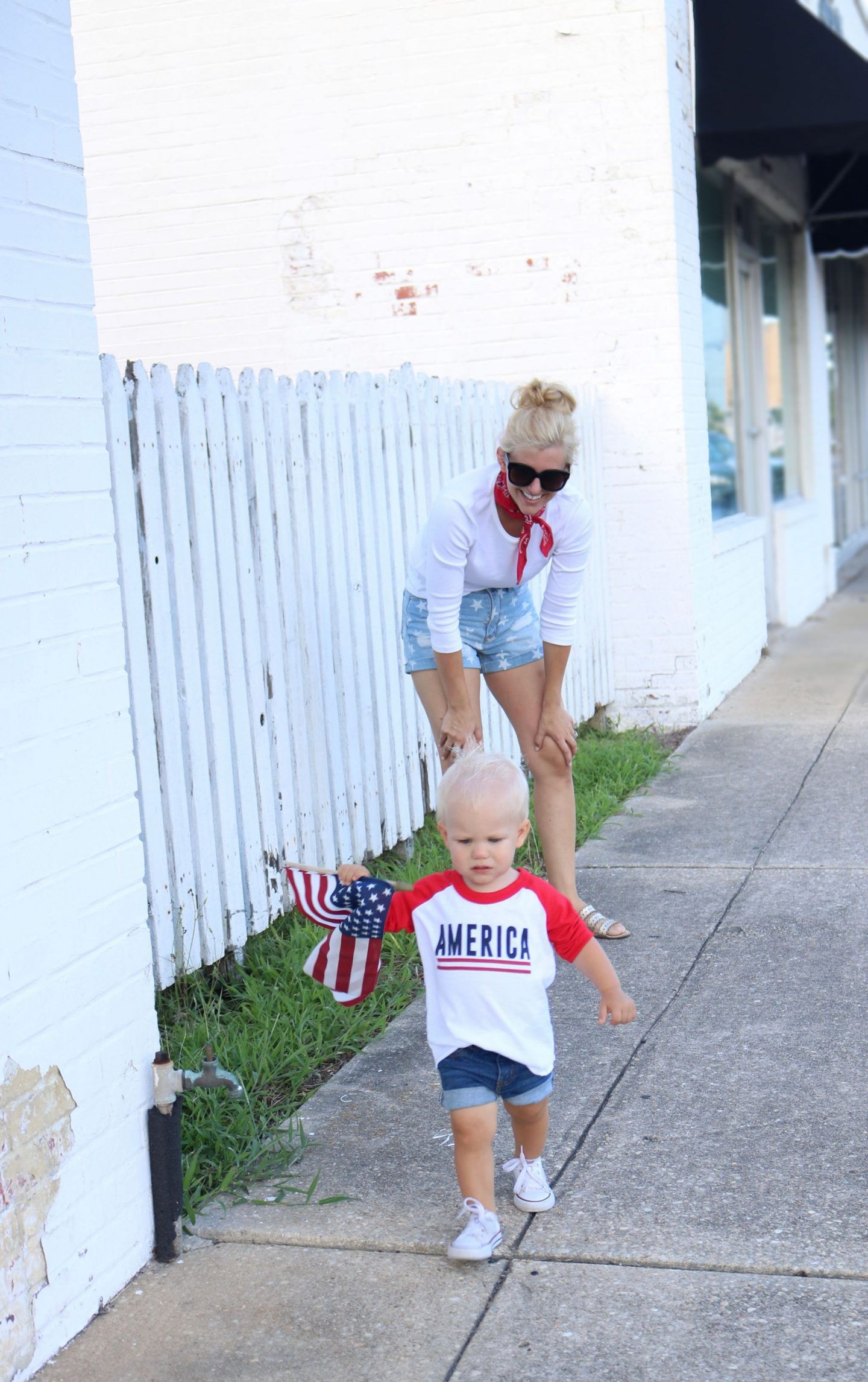 ily couture toddler style, american flag, 4th of july, american style, denim star shorts