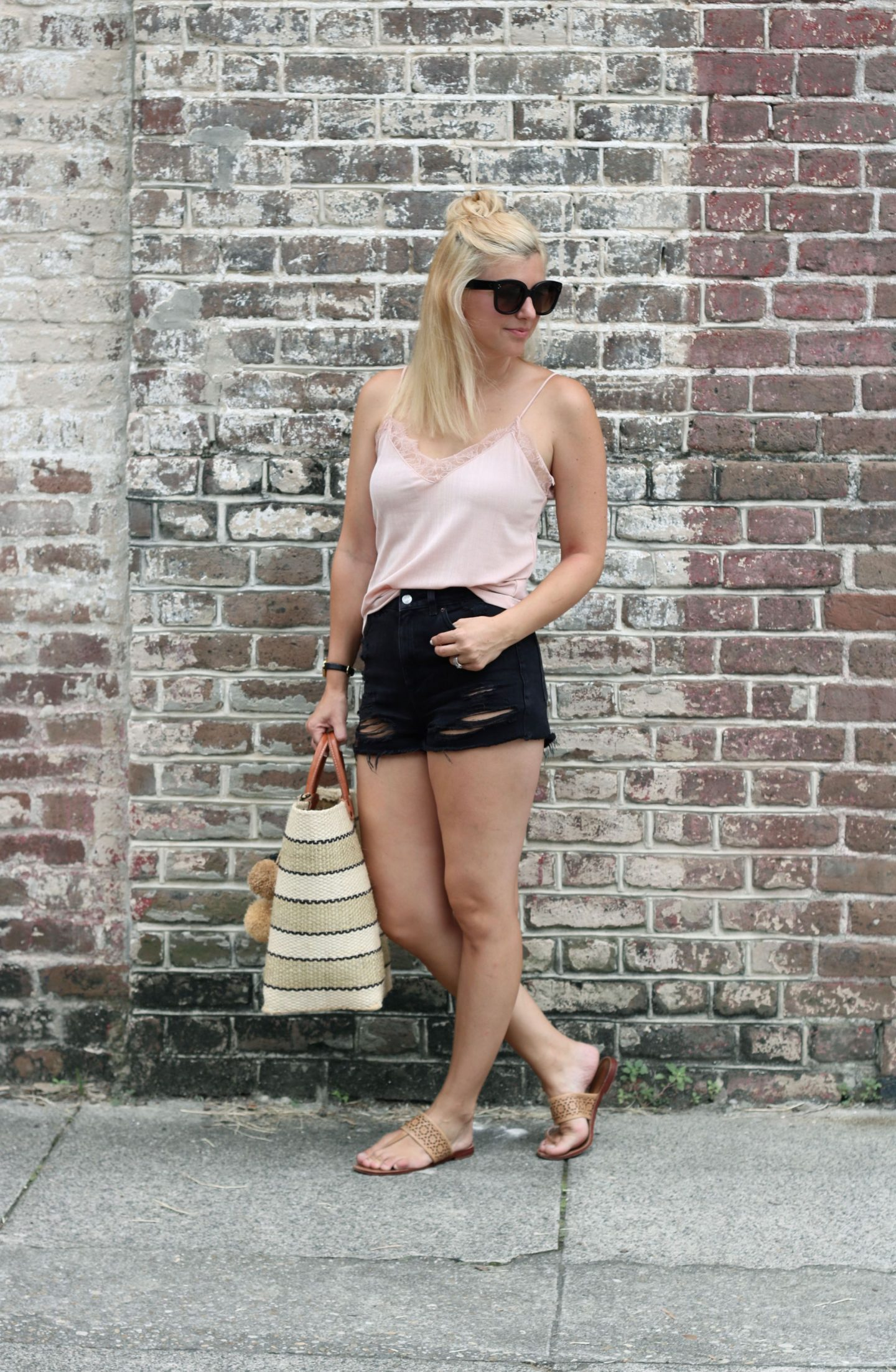lace cami styling / settling southern / charleston south carolina