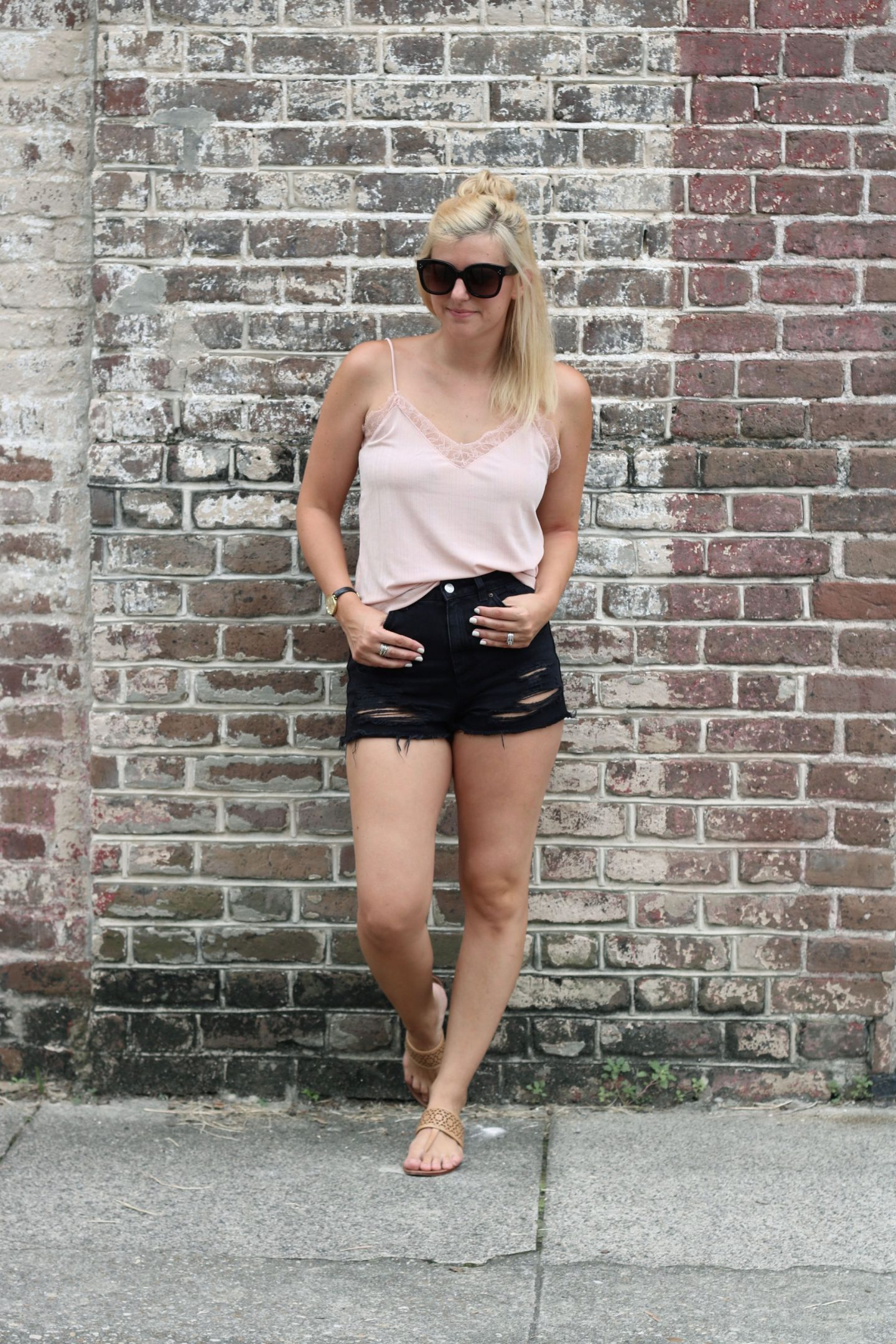 how to style a lace cami / settling southern
