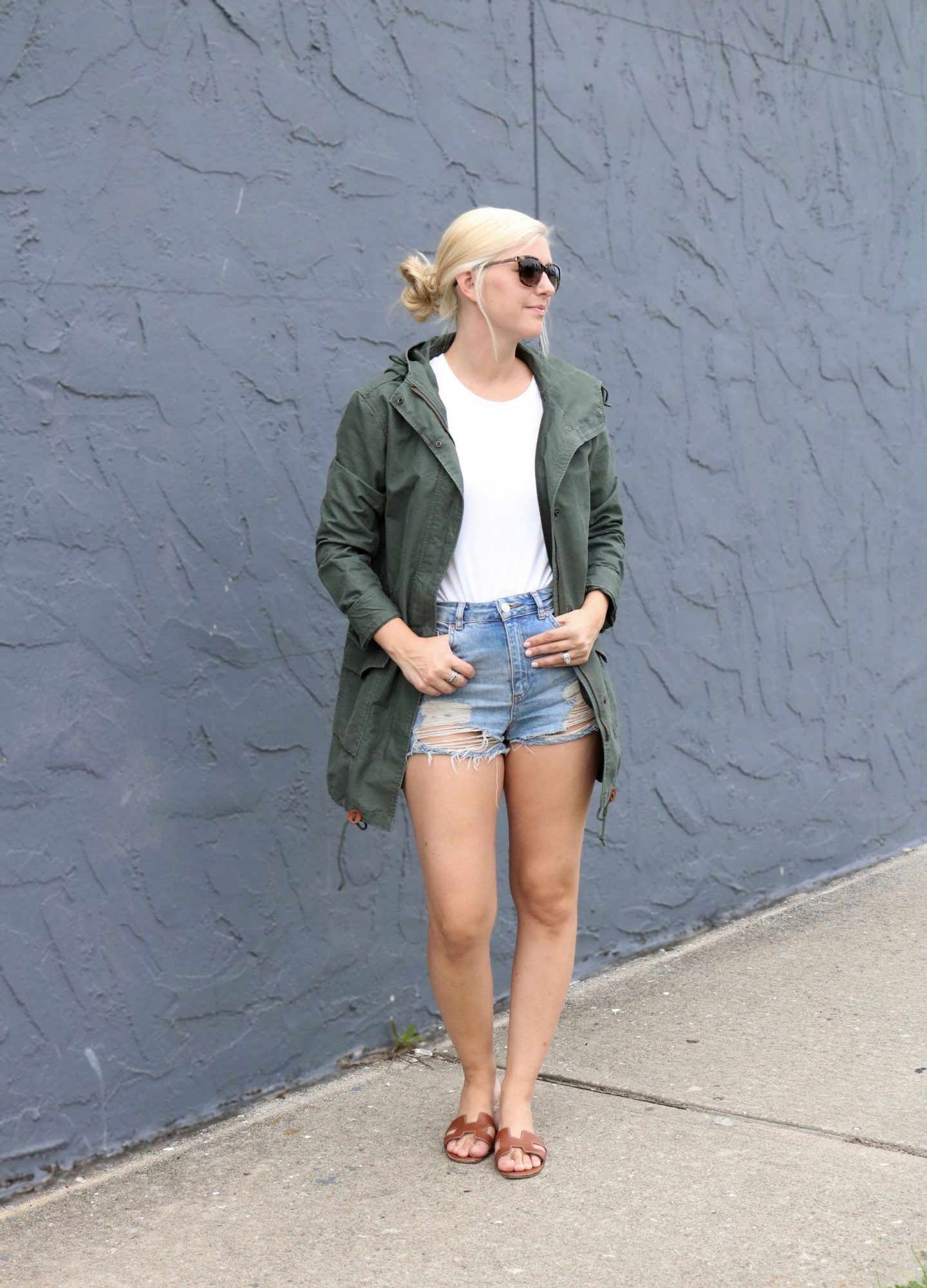 how to style a parka, abercrombie and fitch parka