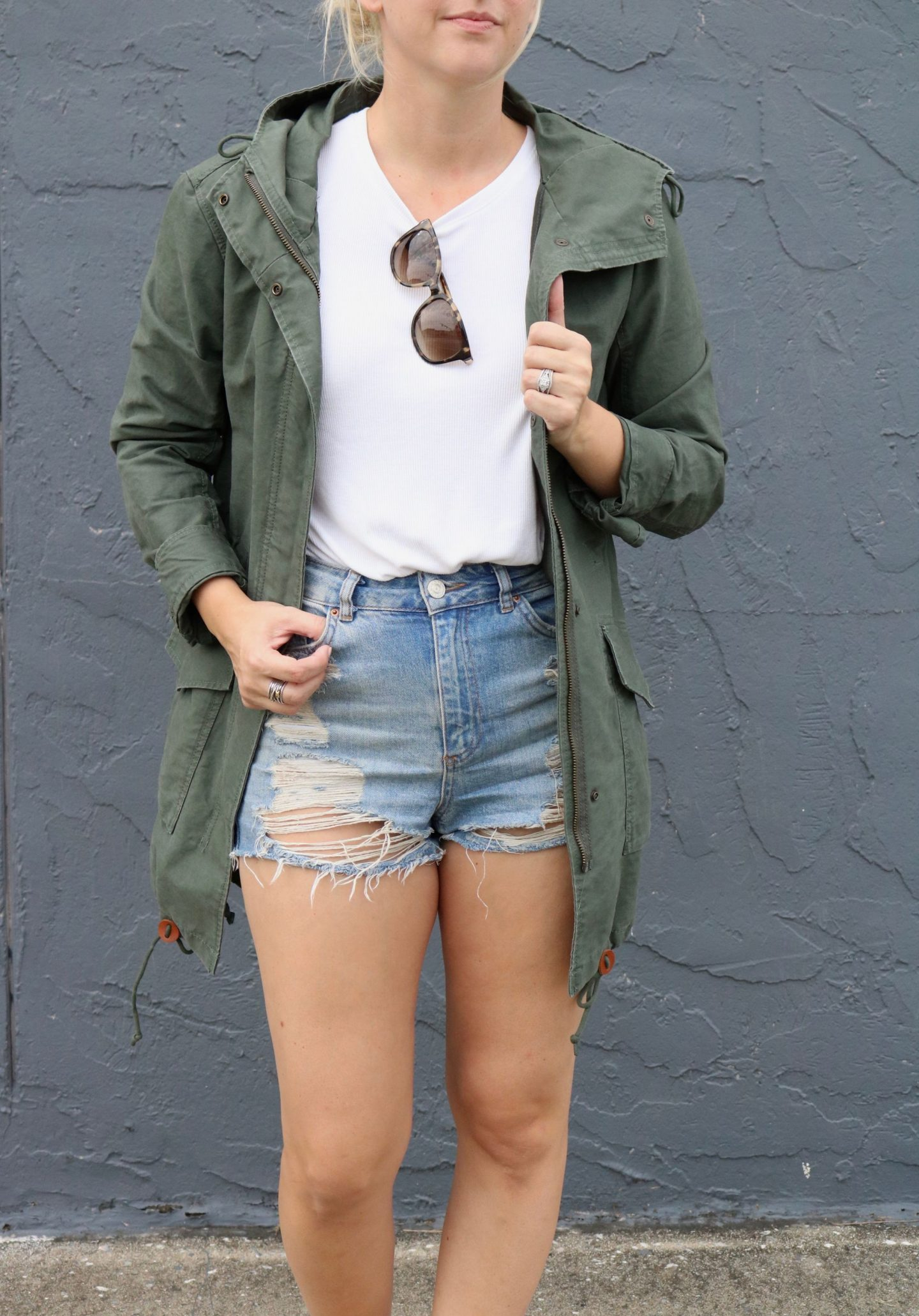 Layering a fall jacket for fall, settling southern