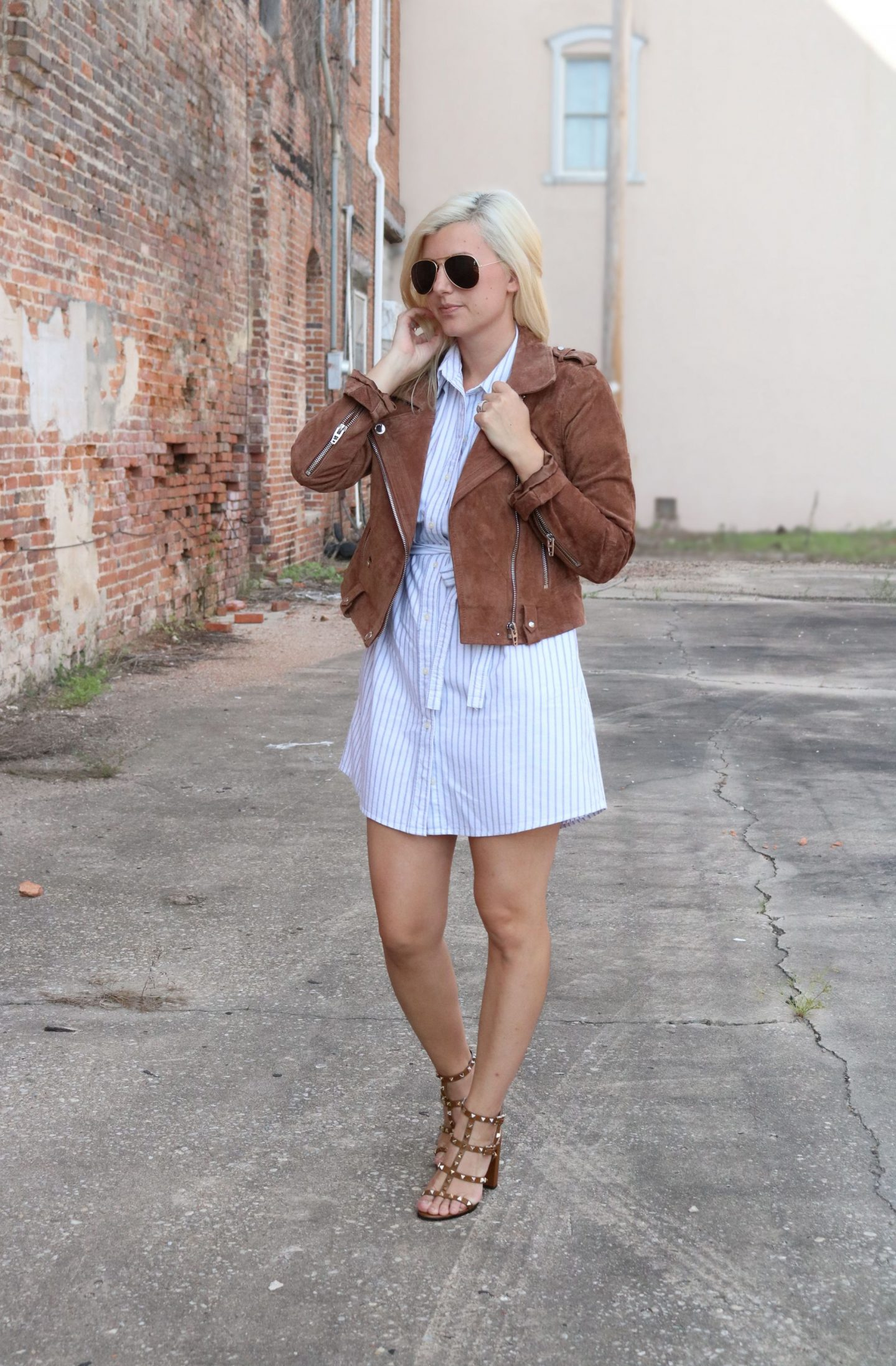 how to style a shirt dress, settling southern