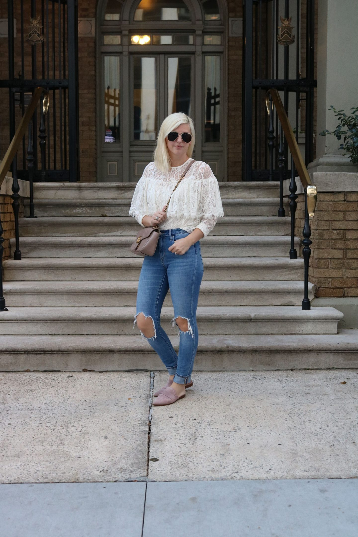 affordable lace top, how to shop style at target, settling southern