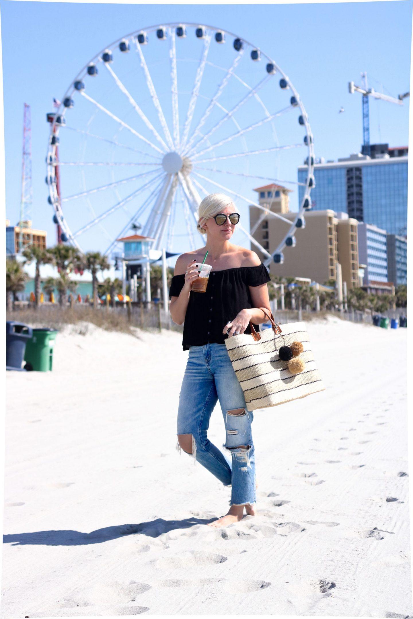 visiting myrtle beach, skywheel myrtle beach, ferris wheel