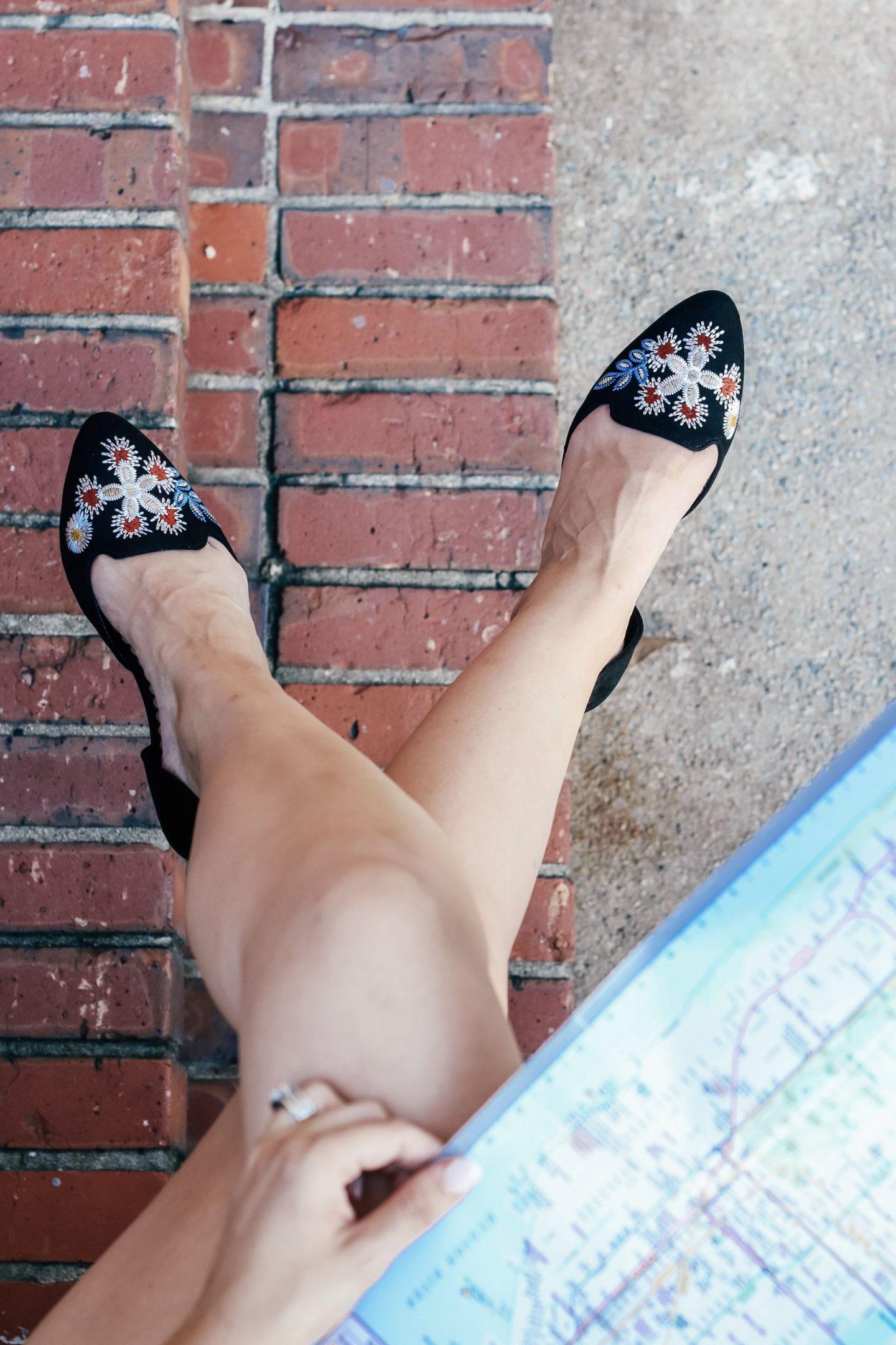 Restricted Shoes, floral flats, overalls, celine sunglasses
