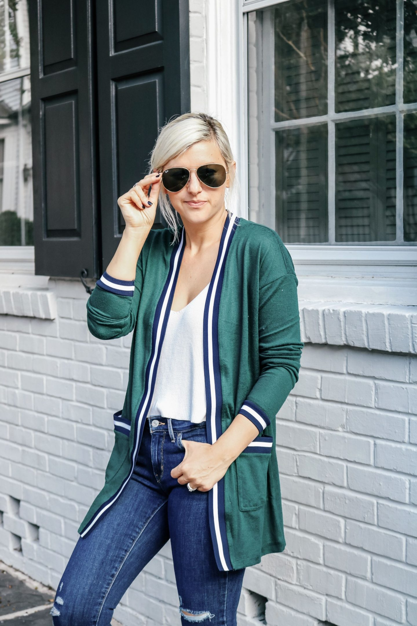 Stage Stores, All Day Denim, how to style denim. long cardigans