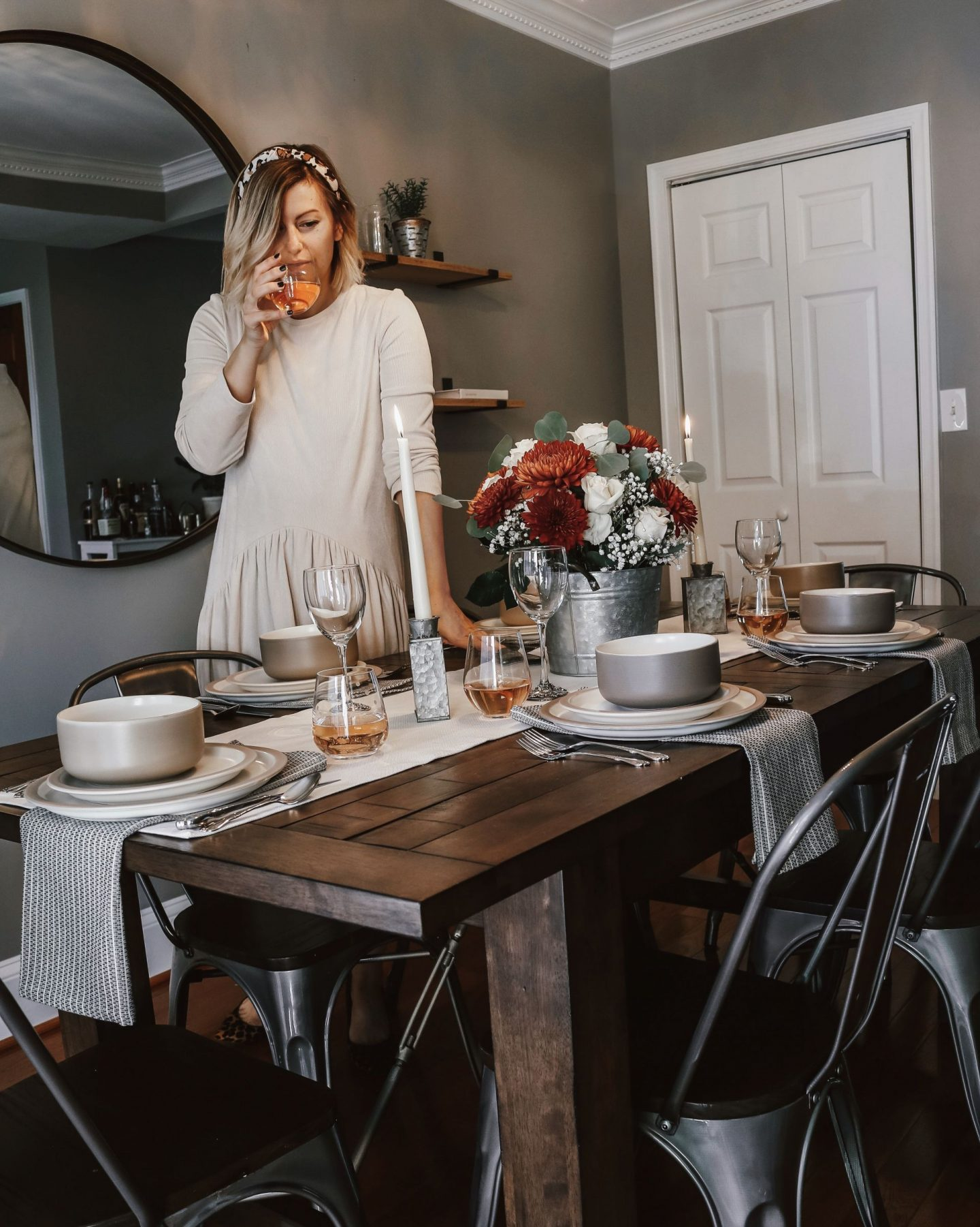 Thanksgiving Tablescape, holiday decorating, table decor
