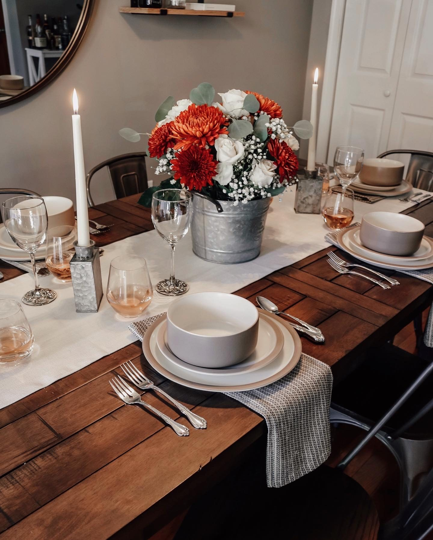 Dinning room decor, thanksgiving tablescape ideas