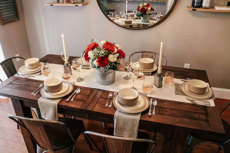 Table decor, holiday table decor, thanksgiving tablescape