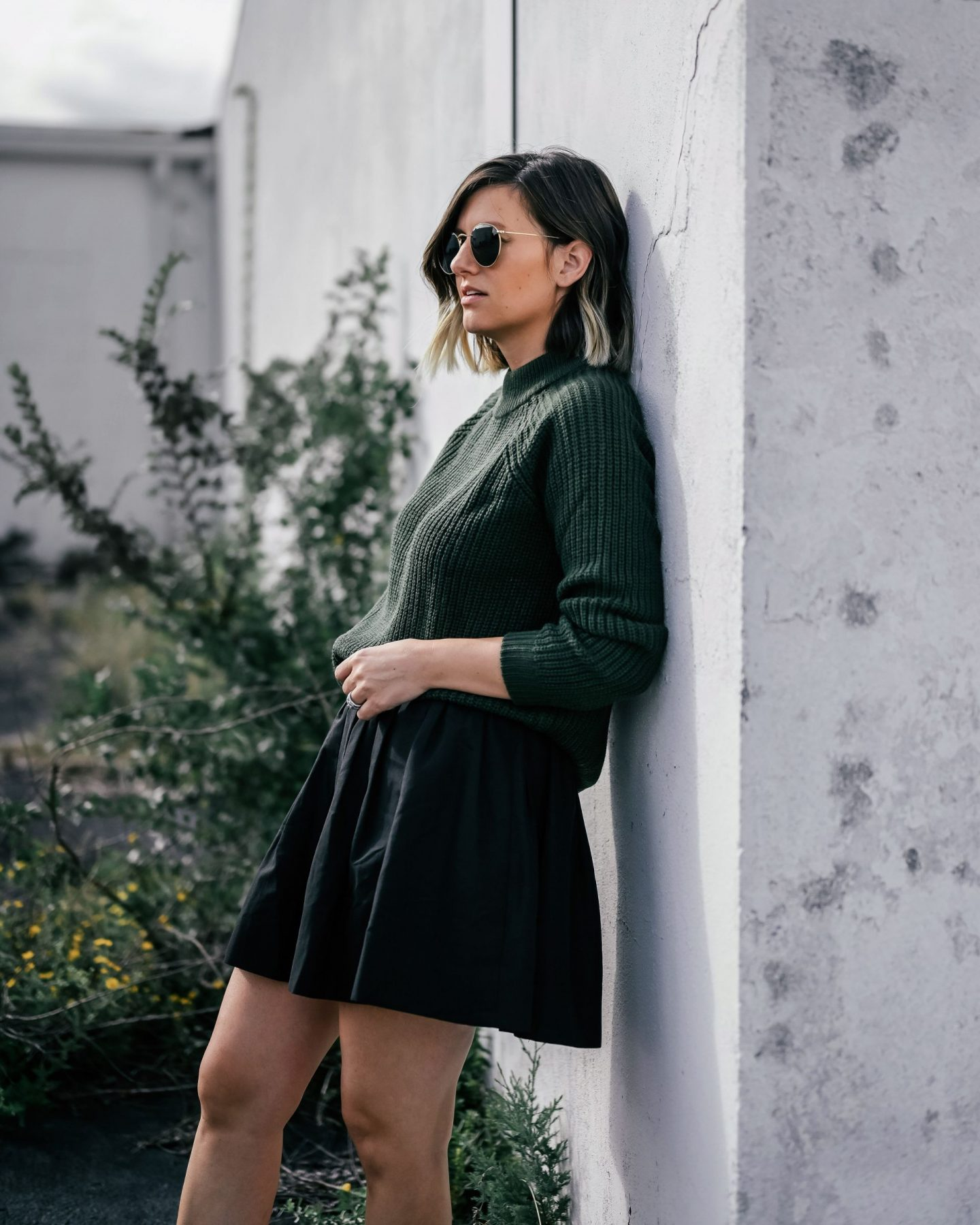 Sweater weather, styling a high neck sweater,